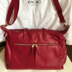 """""""Audrey"""" all leather laptop bag by Knomo of London"""